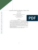 A General Method for Debiasing a Monte Carlo Estimator