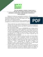 Ficha de Trabajo Del Texto de Czarny. Pasar Por La Escuela