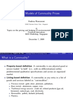 Arbitrage Models of Commodity Prices - Slides