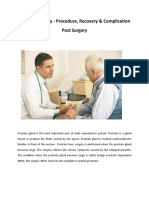 Prostate Surgery - Procedure, Recovery & Complication Post Surgery