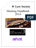 UNSW LAW - 2014 Mooting Handbook
