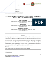 An Adaptive Role-based Access Control Approach for Cloud E-health Systems