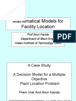 (30) Mathematical Models for Facility Location