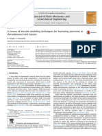 A Review of Discrete Modeling Techniques for Fracturing Processes In