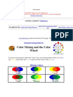 Color Mixing and the Color Wheel