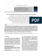A New Probabilistic Transformation in Generalized Power Space