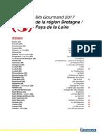 La sélection Bib Gourmand 2017 des régions Bretagne et Pays de La Loire