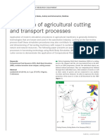 Simulation of Agricultural Cutting and Transport Processes