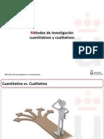 Métodos Cuantitativos vs. Cualitativos