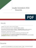 Certificação Autodesk 2016 Docente