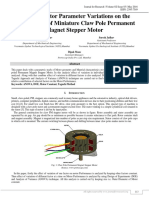 EFFECT OF MOTOR PARAMETER VARIATIONS ON THE PERFORMANCE OF MINIATURE CLAW POLE PERMANENT MAGNET STEPPER MOTOR