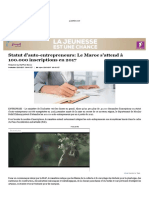 Statut d'Auto-Entrepreneurs_Le Maroc s'Attend à 100.000 Inscriptions en 2017
