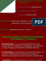Histomonas, tricomonas, giardias