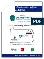PennDOT application for designation of Automated Vehicle Proving Grounds Pilot