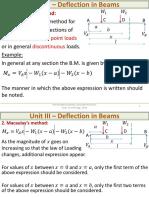 L13- Deflection - Macaulay's Method