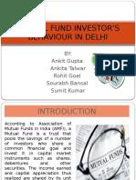 Mutual Fund Investor's Behaviour in India
