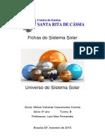 Fichas Do Sistema Solar