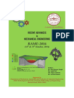 Recent Advances in Mechanical Engineering RAME-2016 (Proceedings)