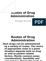 3 routes of drug administration