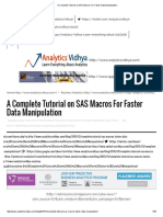 A Complete Tutorial on SAS Macros for Faster Data Manipulation