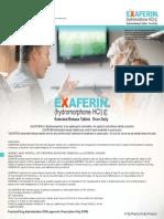 EXAFERIN ® (hydromorphone HCl) extended-release tablets - TAJ PHARMA