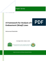 A Framework for Analysis of Islamic Endowment (Waqf) Laws