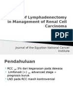 Impact of Lymphadenectomy in Management of Renal Cell