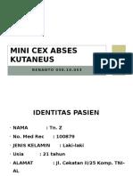 Mini Cex Abses Kutaneus