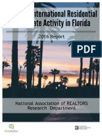 2016 Profile of Residential Real Estate Activity in Florida