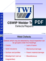 Welding Defect TWI CSWIP