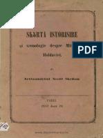 (1857) Scurtă Istorisire Şi Hronologie Despre Mitropolia Moldavieĭ [N. Scriban]
