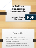Intro Política Económica