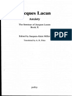 Anxiety the Seminar of Jacques Lacan X