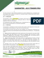10 Years General Warranty - 62 XT PRO