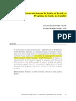 A Reforma de Saúde No Brasil e o Programa Saúde Da Família - Com Marcações
