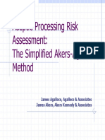 Aseptic Processing Risk Assessment the Simplified Akers Agalloco Method