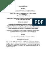 Denuncia Pública Amenazas a Líderes de Marcha Patriótica en Cauca