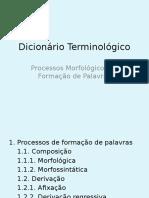 Dicionario Terminologico Processos Morfologicos de Formacao de Palavras