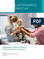 Saskatchewan Advisory Panel on Health System Structure Report