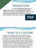 Custom and Law