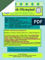 Math Olympiad Club Description