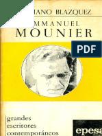 Blazquez, Feliciano - Emmanuel Mounier