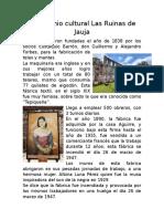 Patrimonio Cultural Las Ruinas de Jauja