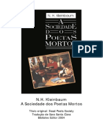 n. h. Kleinbaum - A Sociedade Dos Poetas Mortos