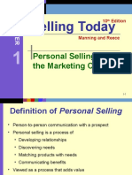 Ch 1 - Personal Selling and Marketing Concept