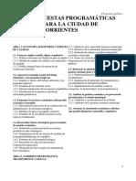 Propuestas Programáticas Para La Ciudad de Corrientes
