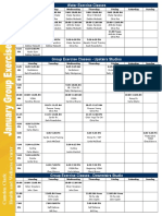 January 2017 Class Schedule