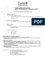 Curtin Scholarship Form