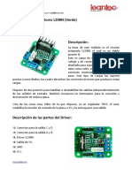 Documentación L298N Arduino