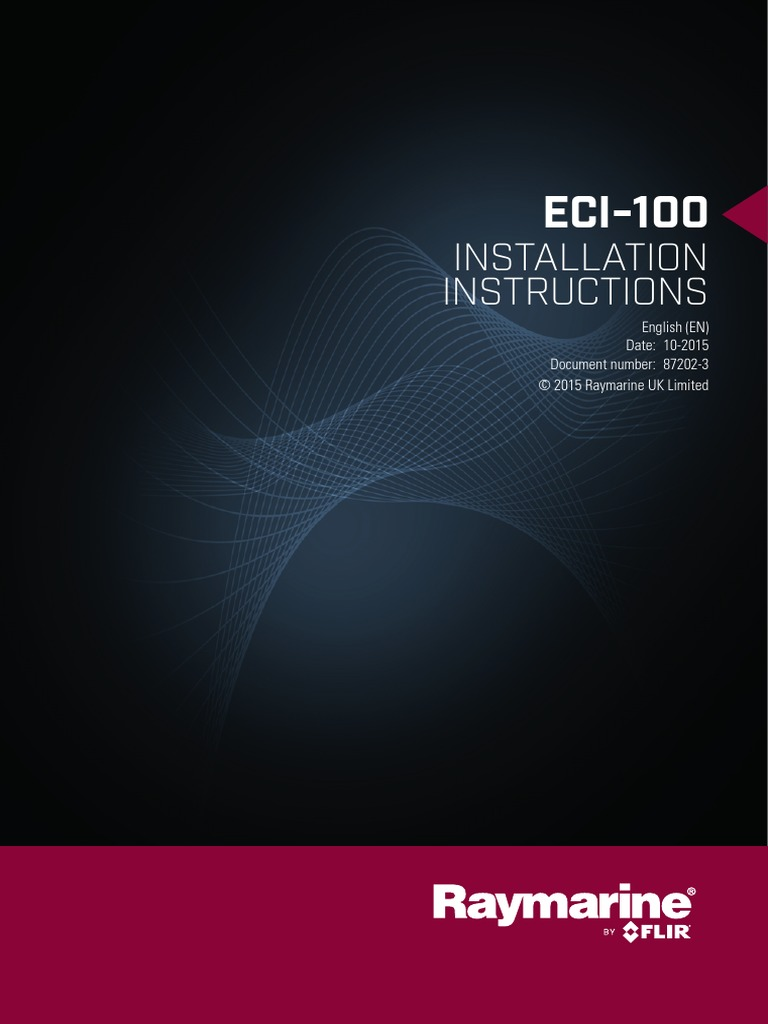 Eci 100 Installation Instructions 87202 3 En Fuse Electrical Seatalk Wiring Diagram Power Supply